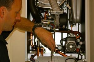 Justin fixing boiler